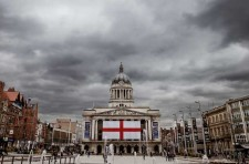 Nottingham Old Market Square and Council House on St. George's day 2013